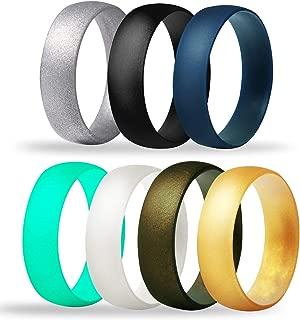 Tuhaoge 软硅胶婚戒男女通用,7 件装纤细*舒适硅胶戒指结婚戒指