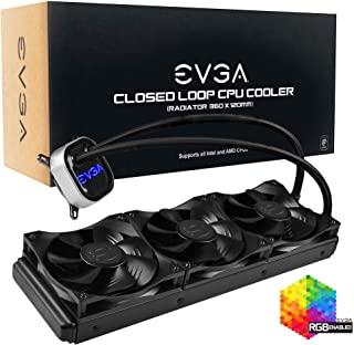 EVGA CLC 360mm 一体式 RGB LED CPU 液体冷却器,3X FX12 120mm PWM 风扇,英特尔,AMD,5 年保修,400-Hy-CL36-V1
