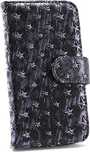 whitenuts 保护套翻盖式星星图案 紫色 14_ URBANO L01 KYY21