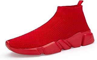 Casbeam 男式跑步针织舒适轻便透气休闲运动鞋时尚运动鞋一脚蹬休闲鞋