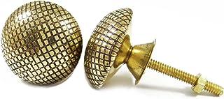 金黄铜旋钮橱柜把手抽屉拉式独特橱柜把手印度 2 件 Golden-10 1.5 CDN1246