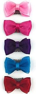 Baby Wisp Clip 5 个小缎带蝴蝶结优美发蝴蝶结婴儿女婴 - 新生儿礼物套装