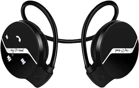 I-kool Sport-101 蓝牙耳机蓝牙耳机紧凑型无线运动耳机可与 iPhone、iPad、Samsung、其他蓝牙设备兼容Sport-101/bk 黑色
