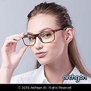 Archgon 时尚电脑眼镜防蓝光紫外线防护 A+ 水晶钢化镜片型号 柏林经典 GL-B104-BR
