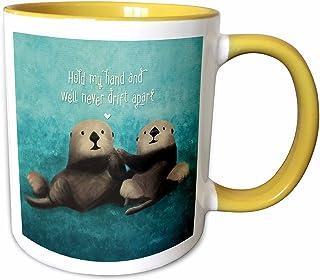 3dRose 马克杯 黄色/白色 11-oz Two-Tone Yellow Mug mug_281739_8