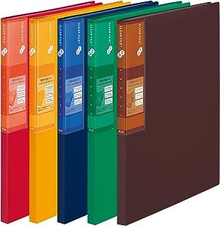 普乐士 超经济 透明文件夹+ A4 20袋(5本套装) 混色