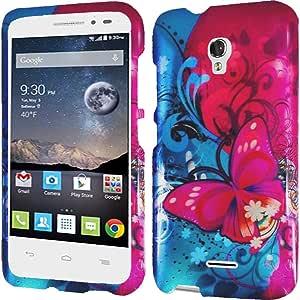 Alcatel One Touch Pop Astro 手机壳,Bastex 修身橡胶搭扣硬质塑料手机壳适用于阿尔卡特 One Touch Pop Astro 5042TTEMP 31: DP-ALCATELASTRO-BTFLYBLIS+Cloth Butterfly Bliss