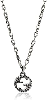 GUCCI 古驰 银质 项链 INTERLOCKING G GU-455307-J8400-0811