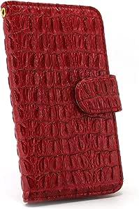 ホワイトナッツ ワニ柄 ケース 手帳型 红色 15_ HTC U11 601HT