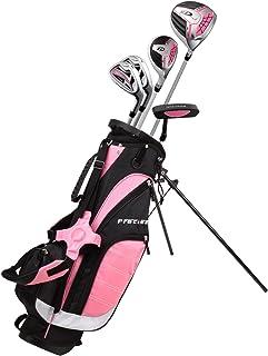 左手粉色青少年高尔夫球杆套装,适合 6 至 8 岁儿童