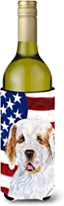 USA American Flag with Clumber Spaniel Michelob Ultra Koozies for slim cans SS4027MUK 多色 750 ml