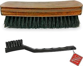 TAKAVU Master 6.7 英寸皮革刷 – 优质 – 易于抓握 – 软尼龙刷 – 免费细刷 – 适用于清洁汽车内饰、内饰、家具、沙发、靴子、鞋子 #1 TAK264-18