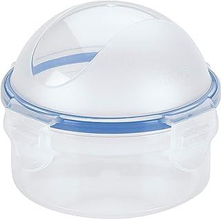 LOCK & LOCK 密封圆形食物储藏盒,洋葱盒 10.14 盎司/1.27 杯 Semitransparent 10 盎司 HPL932A