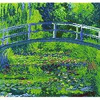 DMC THE 国家画廊莫奈 THE 睡莲池塘十字绣套件,100% 棉, multi-colour
