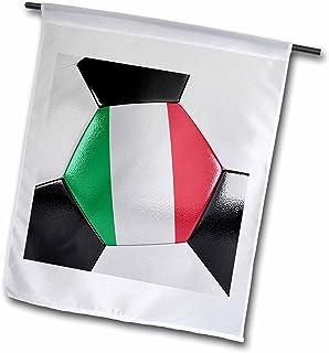 carsten reisinger illustrations–插图–意大利足球–旗帜 12 x 18 inch Garden Flag