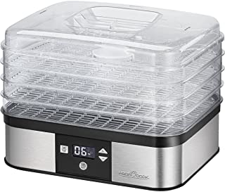 Profi Cook ProfiCook PC-DR 1116 自动烘干机,7 级电子控温,循环风扇,循环风功能,定时器,LCD 显示,多种用途,不锈钢外壳,350 W