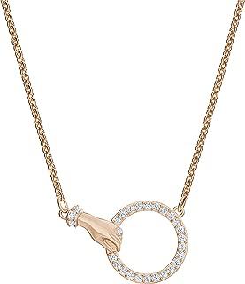 Swarovski 施华洛世奇 女士玫瑰金色电镀白水晶施华洛世奇符号项链5489573,白色