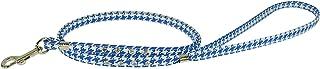 Evans Collars 宝石扁平牵引绳,10.16 厘米,犬牙花纹,蓝色