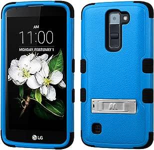 MyBat Cell Phone Case for LG K7, LG Tribute 5 - Retail Packaging - Black/Blue