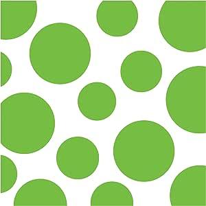 Creative Converting 16 片装 Chevron 和波尔卡圆点午餐餐巾 鲜柠檬 Luncheon 663123