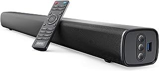 RIF6 条形音箱 - 35 英寸(约 88.9 厘米)家庭影院电视条形音箱,带 LED 显示屏,双内置低音炮和 4 个均衡器设置 - 连接到蓝牙、HDMI、AUX、RCA 和 USB