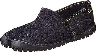 Marugo] tabiRela - 男女通用 Tabi 风格,帆布鞋棉质斜纹鞋面,橡胶外底。