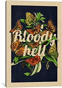 """iCanvasART 1 Piece Bloody Hell Canvas Print by DarkLord, 40 x 26""""/1.5"""" Deep"""