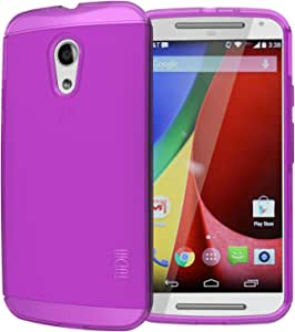Tudia Ultra Slim Lite TPU Bumper Protective Case for Motorola Moto G 2nd Gen 2014 - Purple
