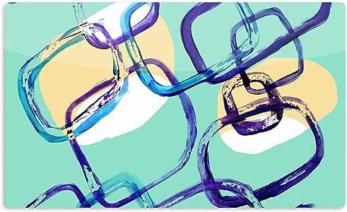 "KESS InHouse Theresa Giolzetti""Sixties Exposure""蓝色蓝*艺术铝磁铁,5.08 厘米 x 7.62 厘米,多色"