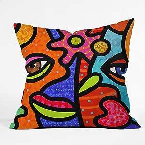 DENY Designs Steven Scott Flower Market Throw Pillow, 26 x 26