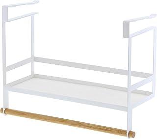 YAMAZAKI 山崎 Tosca 钢制厨房置物架,白色,单号