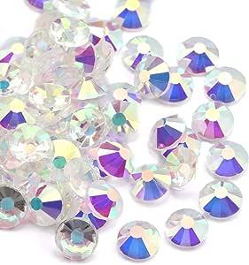 水晶 AB/Crystal 平背玻璃水钻胶固定装置 Transparent AB ss12 (3.0mm) 1440 pcs 2088