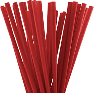 25.4cm 饮水管(25.4cm x 0.71cm) 红色 250 Parent-10x0.28inch-straight-250straws