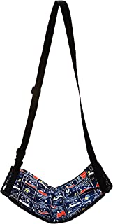 史努比 飞机 机内 乐乐 室内 日本制造 故事图案 藏青色 使用時/約幅35×高さ約21cm 巾着袋/約幅12×高さ約18cm ベルト*大使用長さ 約132cm ベルト*小使用長さ 約83cm -