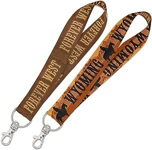 Destination 怀俄明州/怀俄明州挂绳钥匙带 2.54 厘米州/怀俄明州挂绳钥匙带 2.54 厘米,多色,NA
