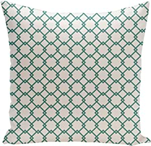Ebydesign PHG-N103-Teal-18 Holiday Brights Collection Geometric Pillow, Teal