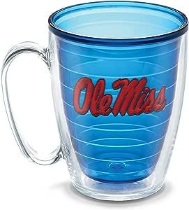 Tervis 1086061 Mississippi University Emblem Individually Boxed Mug, 16 oz, Sapphire