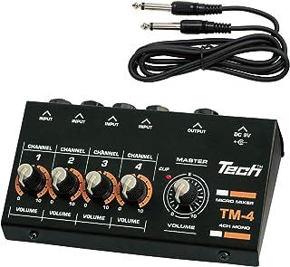TECH 4ch 微型搅拌机 1.2m电缆 X 1附带TM-4