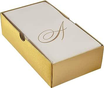 银勺 LinEN FEEL 一次性印花宾客用毛巾     适用于高档婚礼和餐厅     48件,符号 A 24 PC 1650