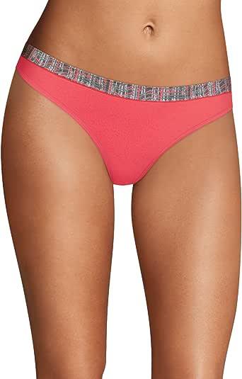 Maidenform 女士运动丁字裤 Arrow Stripe Print/Pink Heather 5