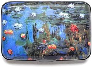 Monet Water Lilies RFID *数据窃取保护信用卡装甲钱包