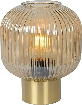 Lucide 桌灯,40 瓦,琥珀色,绸缎铜色