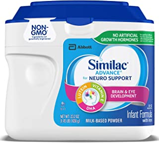 Similac 雅培 Advance  For Neuro Support 婴儿配方奶粉,23.2 盎司(658g)(6 件装)