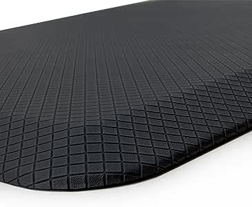 "Buhbo ERGO 舒适系列抗*地板垫,适用于办公室、厨房、立式桌、车库 黑色 20""x39"" BUB-MAT-20X39-BLK"