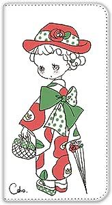 caho 保护套双面印花翻盖和服与花手机保护壳翻盖式适用于所有机型  着物と花C 4_ AQUOS SERIE mini SHV31