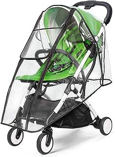 通用婴儿车防雨罩,双门设计和大号存储婴儿车防风雨罩,防水婴儿车罩,食品级 EVA,Eye Protec 中