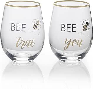 Mikasa 5216740 心形 Infinity 箭头无*杯 Bee True/Bee You 18 oz 5216749