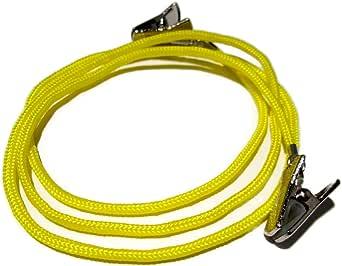 ATLanyards 黄色伞绳防滑夹夹式眼镜支架,装订您的尺寸,眼镜绳,355