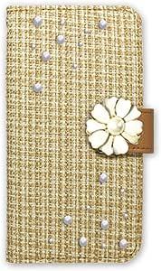 白色坚果 ツィード 装饰手机保护壳翻盖式  浅棕色 2_ Xperia L2 H3321