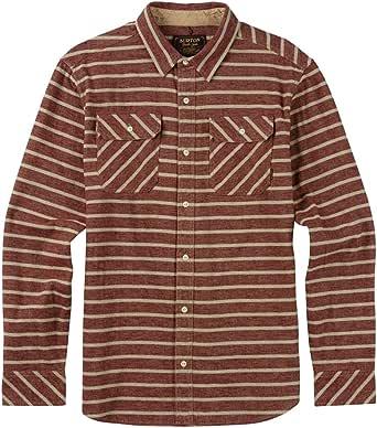 Burton 男式 Brighton 法兰绒衬衫(Rojo 码头条纹,XL)